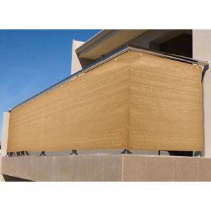 Balkonová zástěna 90cm/500cm písková barva