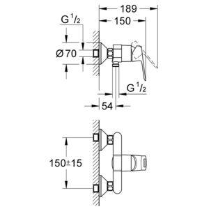 Baterie sprchová nástěnná BAULOOP 23340000