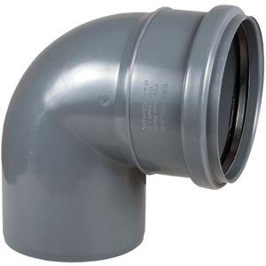 Koleno šedé ø110 x 45º