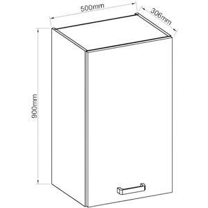 Kuchyňská skříňka Artisan červený lesk 50G-90 1F