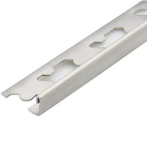 Lišta Edge S-steel Brushed 2500/23/10 mm