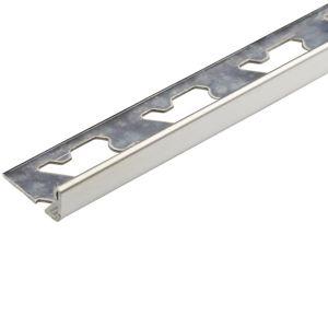 Lišta Edge S-steel polished 2500/23/10 mm