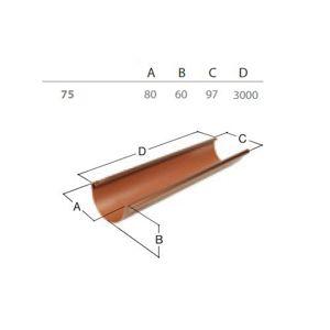 Okapový žlab RG 75 3 m