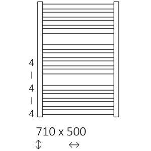 Radiátor EL.MM05 710X500 + topné těleso ONE 400W
