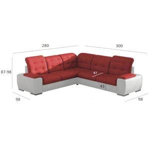Rohová sedací souprava Combi 3 L RK bahama25+soft 31
