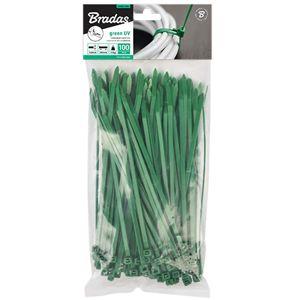 Stahovací páska rozepínací zelená 3,6x100 mm 100 ks