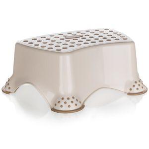 Stolička - schůdek 40x28x14 cm krémová 53995120